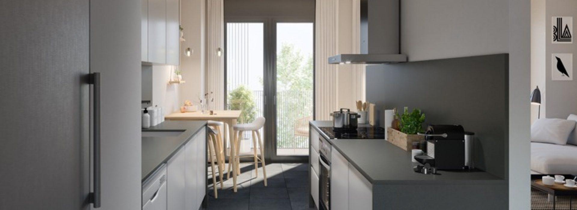 Comedor y terraza Residencial el Mirador de Mollet TR Grupo Inmobiliario desde 1971